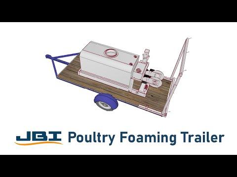 JBI Poultry Foaming Trailer | Foam Application of #Decon7