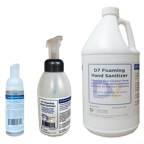 D7 Foaming Hand Sanitizers