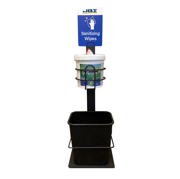 Sanitizing Wipe Bucket Stand w/ Waste Bin