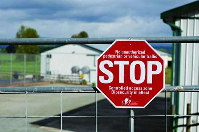 animal producer biosecurity