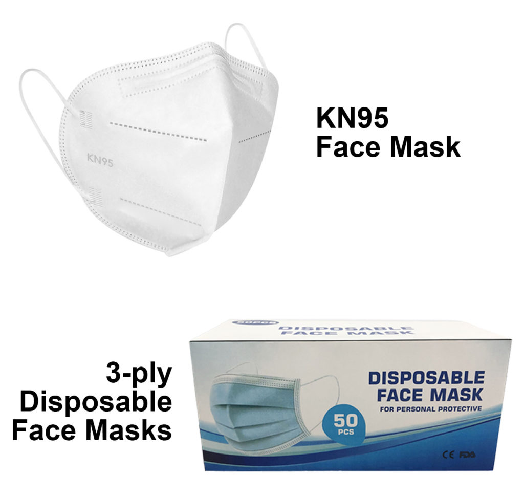 KN95 & 3-ply Disposable Face Masks